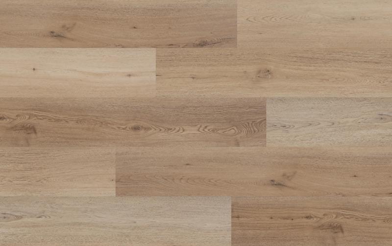 Mega Clic Spc Rigid Core Jasmine Collection Autumn Sunrise 7x61, Textured, Beige, Stone-Plastic-Composite