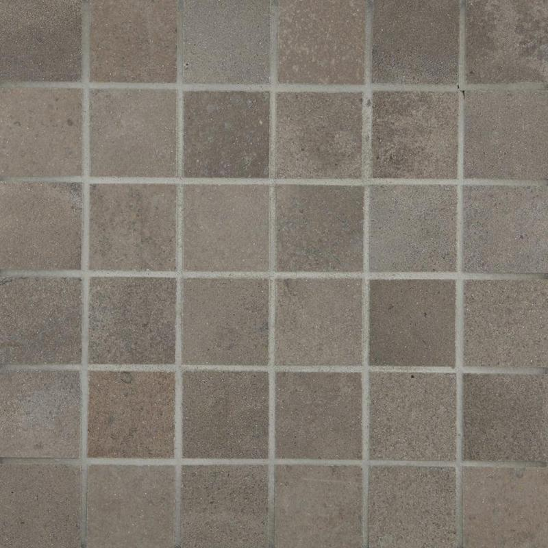 Fusion Piombo 2x2, Smooth, Square, Color-Body-Porcelain, Mosaic