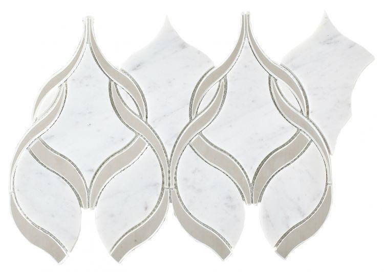 Prestige Carrara Twirl  Glass  Mosaic