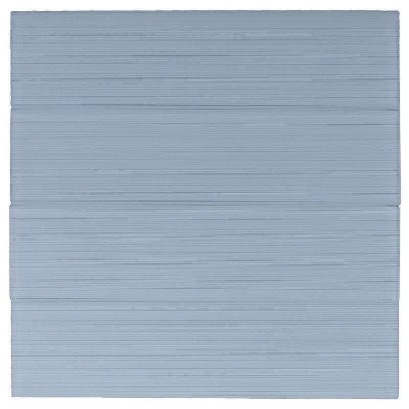 N A Clear Barcode Stripe Glass 3x12   Tile