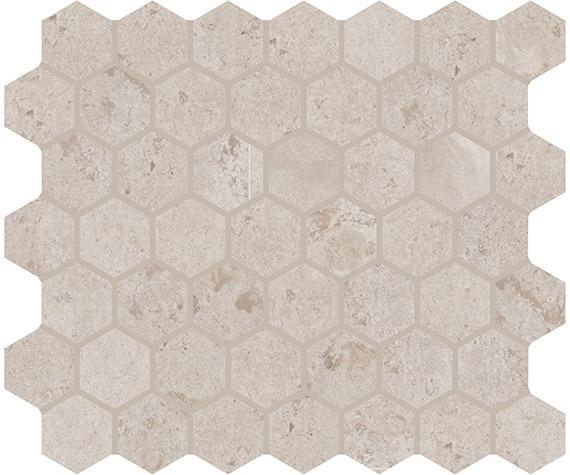 Rochester Beige 1.5x1.5, Matte, Hexagon, Ceramic, Mosaic