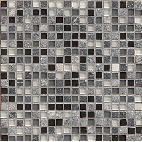 Eclipse Vintage 0.62x0.62 Square Glossy Glass  Mosaic