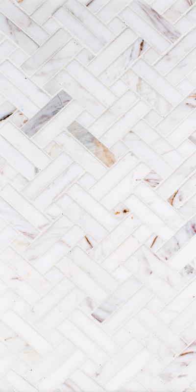 Sto Re Volakas 5/8x2 Stanza W/ Volakas Dots Polished Natural Stone  Mosaic