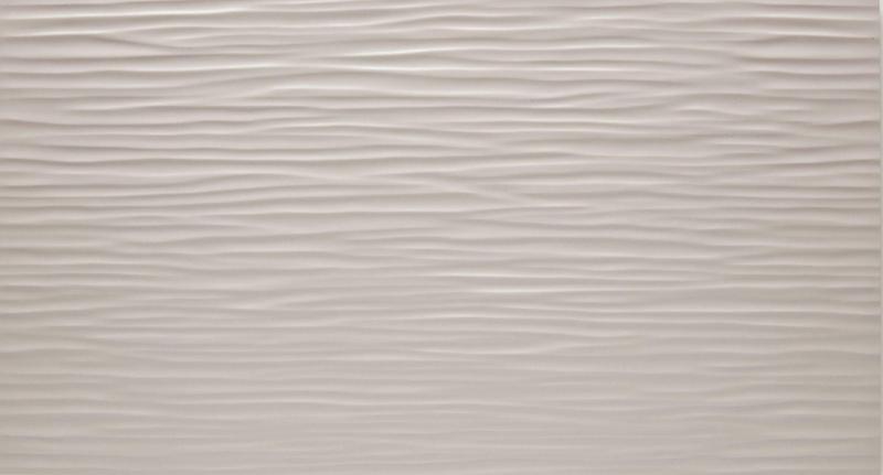 3d Wall Series Grey Wave 12x22, Matte, Gray, Rectangle, Ceramic, Tile