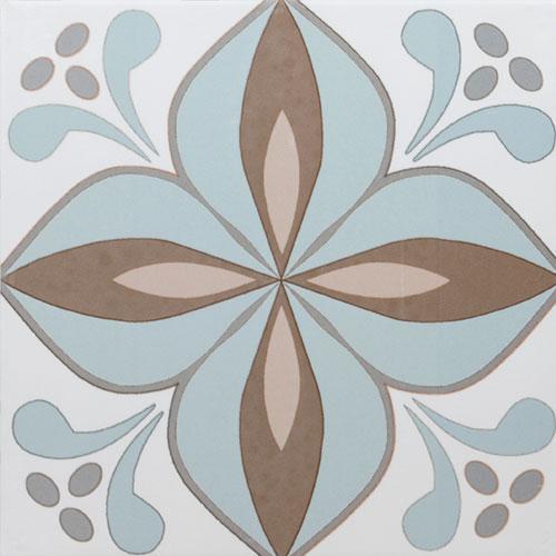 Geottile Art Malvarrosa Beige Natural 9x9 Porcelain  Tile