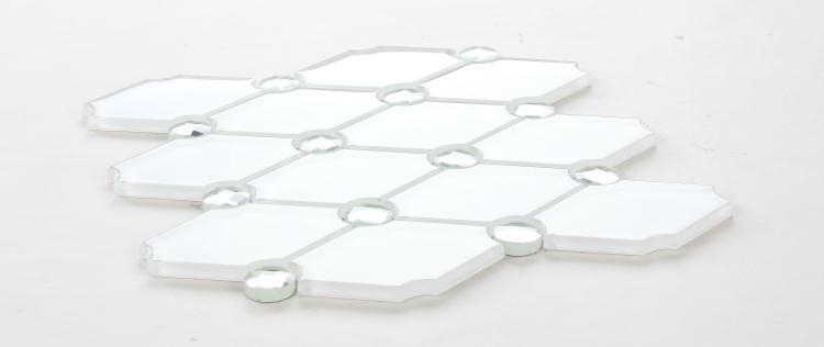Venice Crystal Eva Hexagon  Glass  Mosaic
