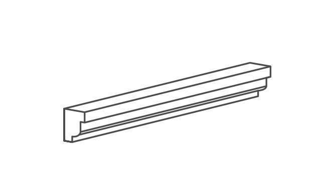 Honey Onyx Trim 2x12 Polished   3/4 Rail Molding