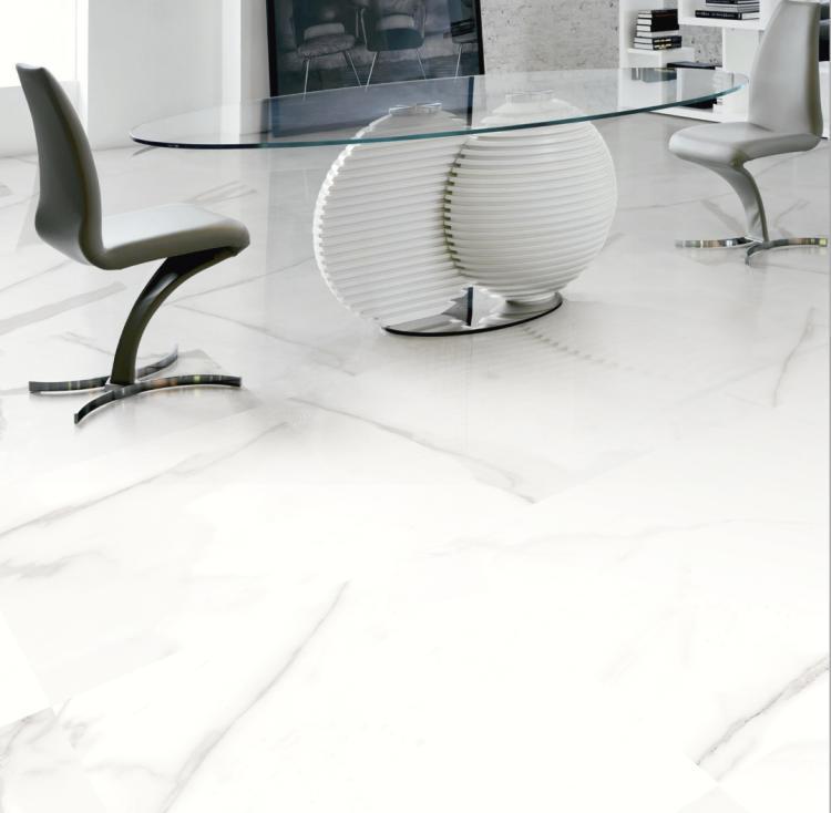 Carrara Calacatta Gris Glazed 24x24 Porcelain  Tile