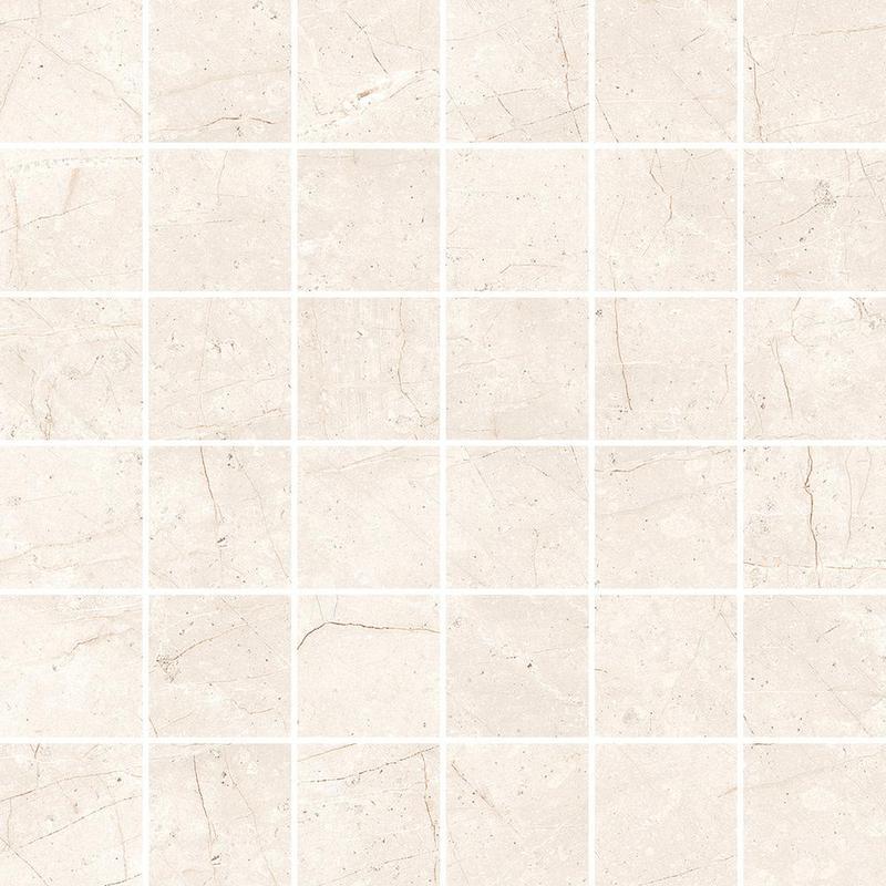Cermodus Mexicana White 2x2 Square Satin Porcelain  Mosaic