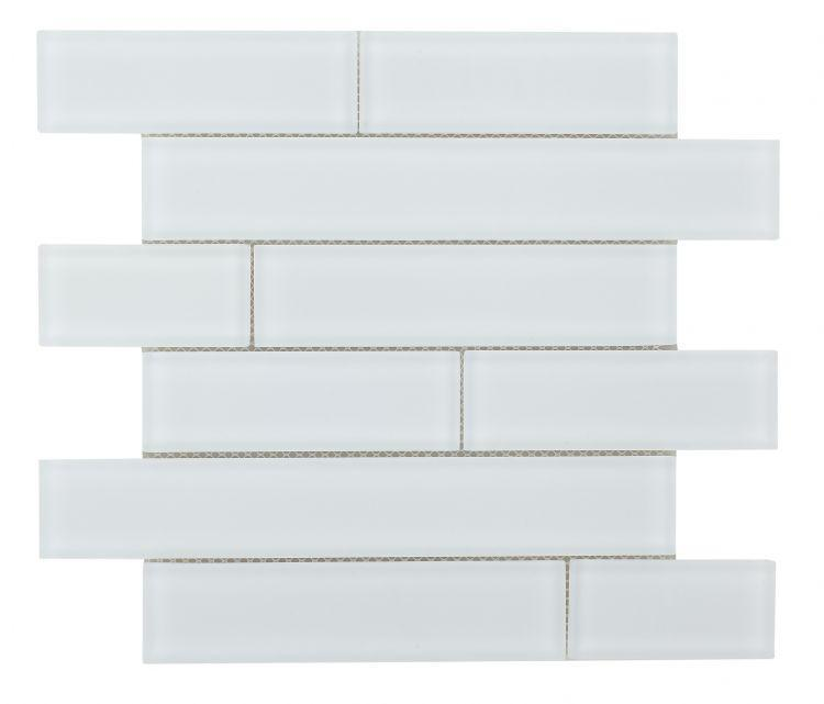 Casale White Frosted Subway Matte Glass  Mosaic