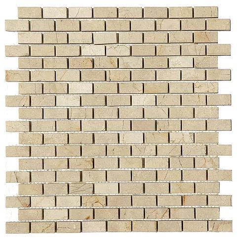 Stone Mosaic Crema Marfil 5/8x1-1/4 Brick Polished Marble