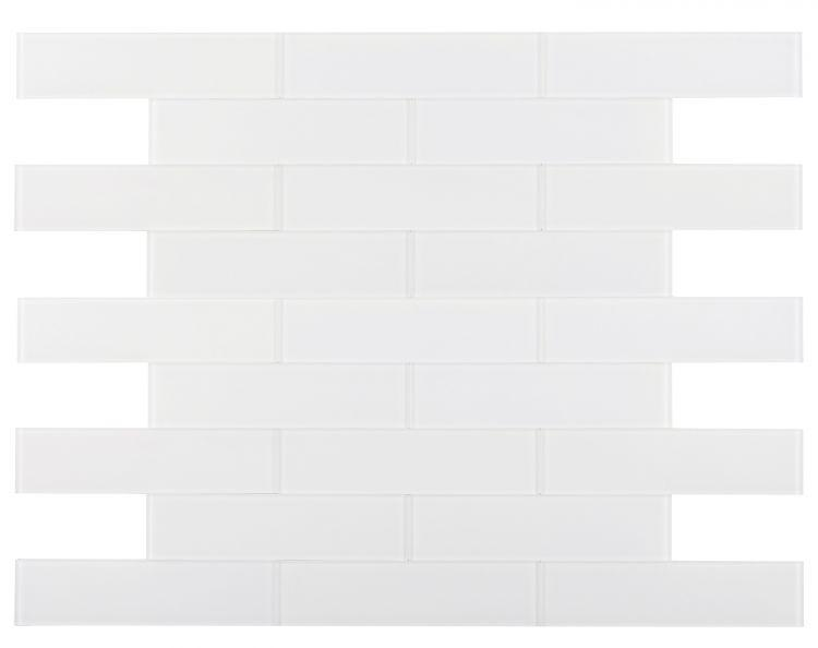 Large Glass Tile Lucy White Subway Matte   Mosaic