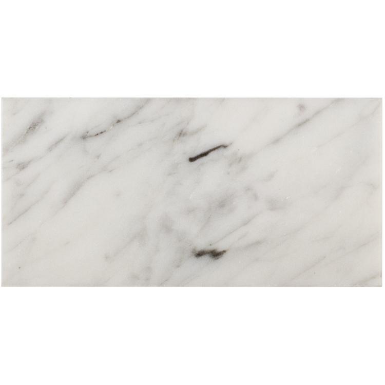 Precious Stone Carrara Brick Loose Polished Marble  Mosaic