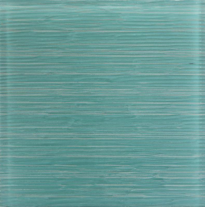 Ice Stream Aqua Blue Glossy 12x12 Glass  Tile