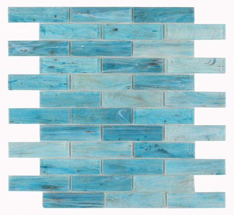 Hot Blue Linear  Glass  Mosaic