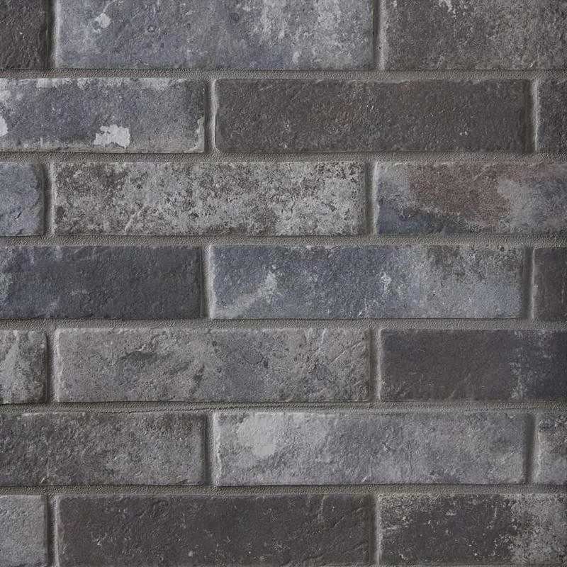 Castle Brick Grey 2.5x10, Glazed, Porcelain, Tile