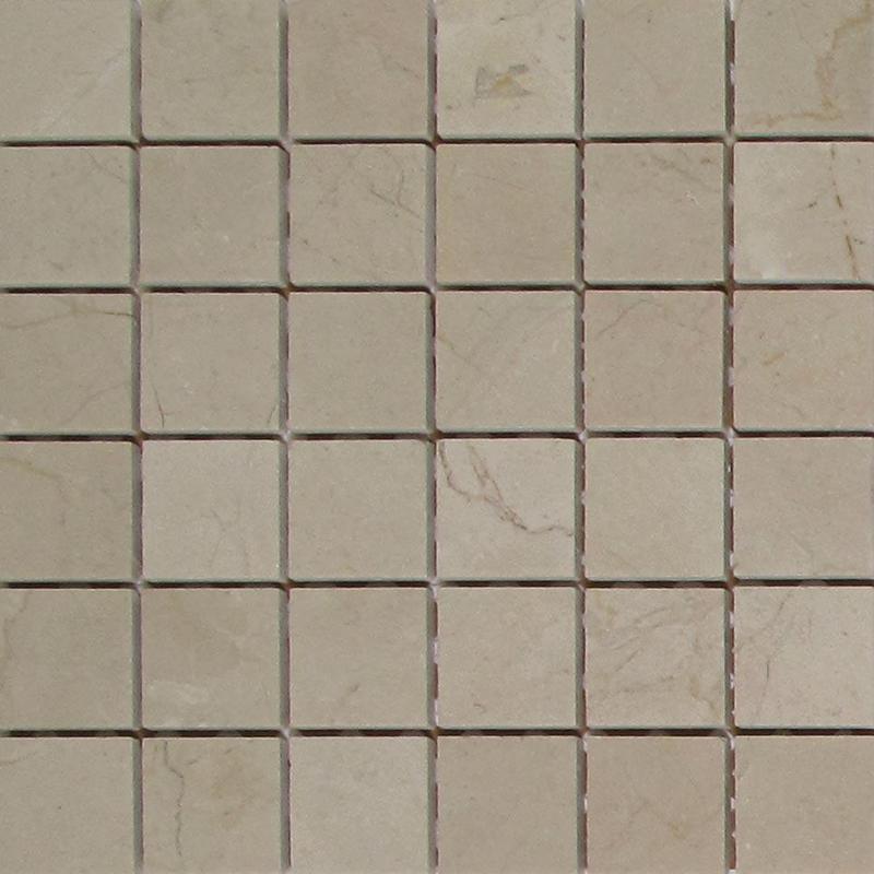 Crema Marfil 2x2 Square Honed Marble  Mosaic