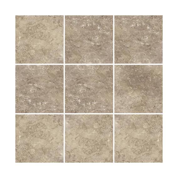 Tumbled Stone Noce 4x4 Square  Travertine  Mosaic
