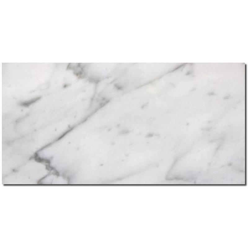 Carrara White Marble Tile 6x12 Honed