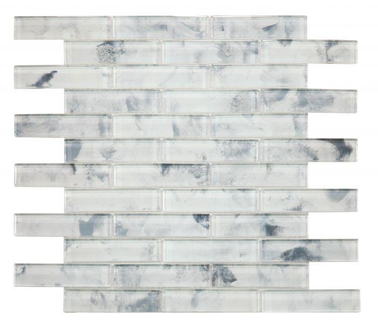 Linear Glass Watercolor Dawn Glossy   Mosaic
