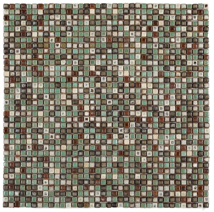 Roman Apollo Square Glossy Porcelain  Mosaic