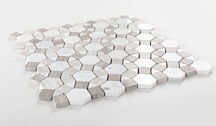 Aether Loft Circular Polished Marble  Mosaic