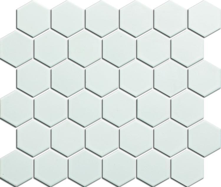 White2 2x2 Hexagon Matte Porcelain  Mosaic
