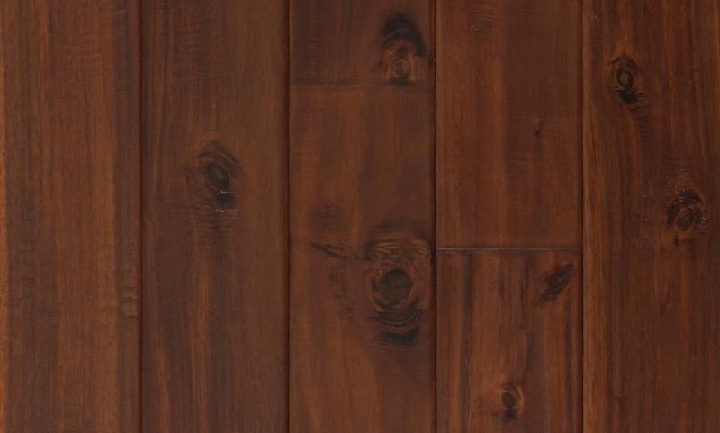 Solid Selection Exotic Chestnut 4.75xfree length, Hand-Scraped, Brown, Acacia, Engineered-Wood
