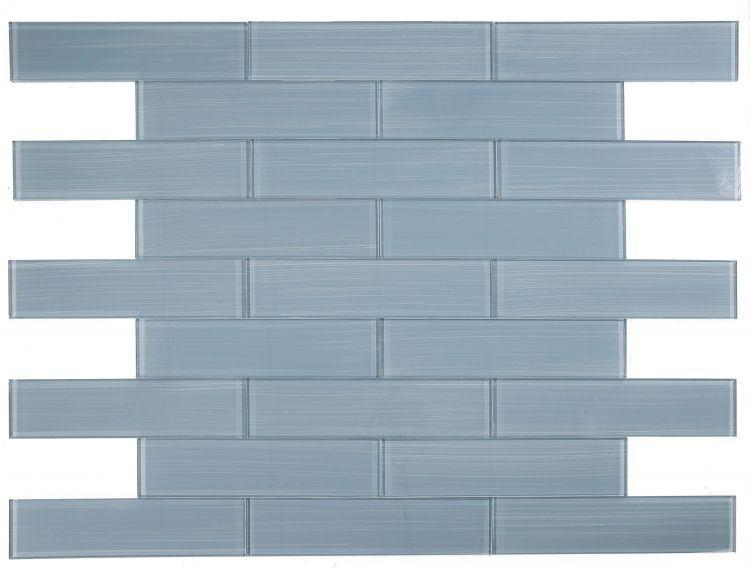 Large Glass Tile Lucy Pewter Painting Subway Glossy   Mosaic