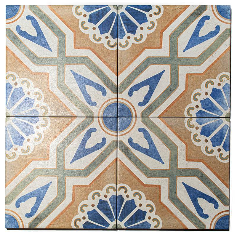 Batik Caribbean Curacao 8x8 Porcelain  Tile