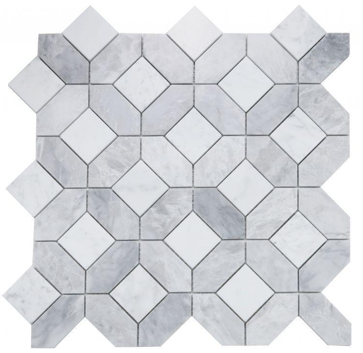 Eclipse Dusk Hexagon Polished Marble  Mosaic