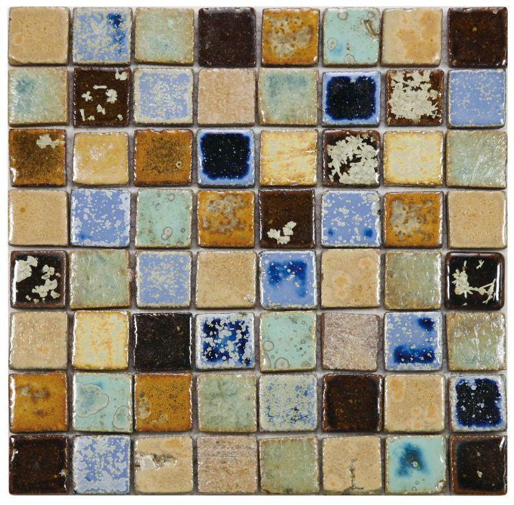 Roman Terra 1.5x1.5 Square  Porcelain  Mosaic