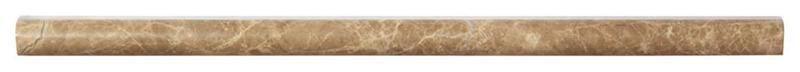 Emperador Light Marble Trim 3/4x12     Pencil Liner