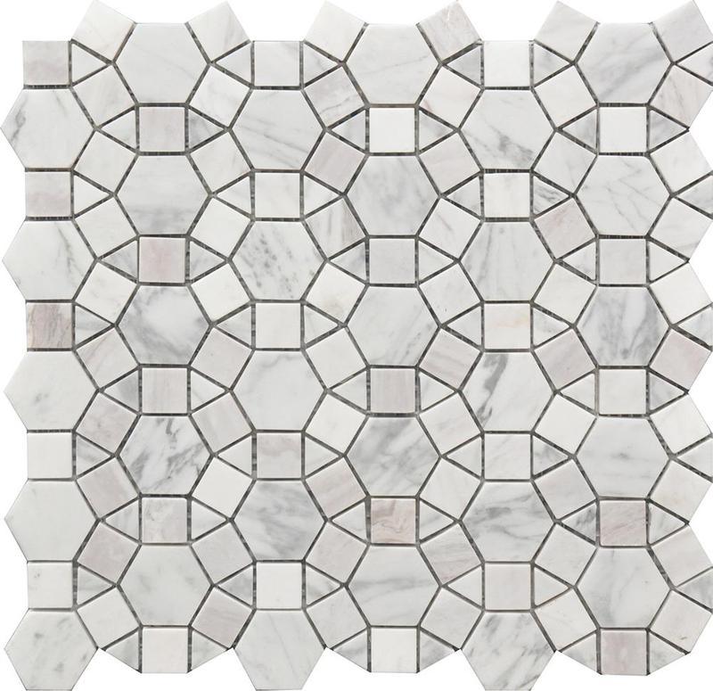 Rockart Kaleidoscope Polished Marble  Mosaic