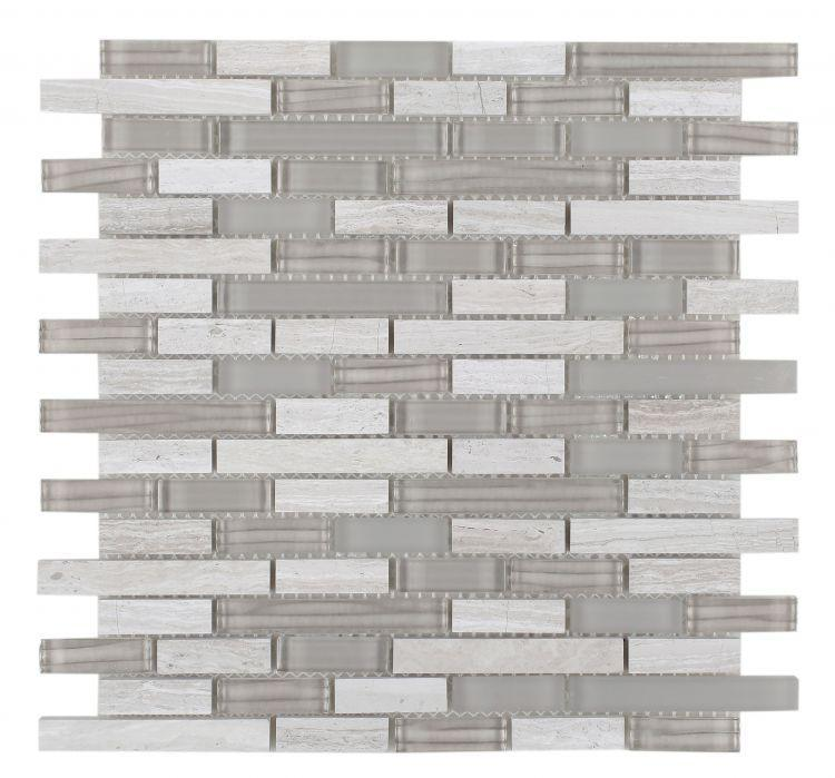 Linear Glass Snow Stack Mosaic