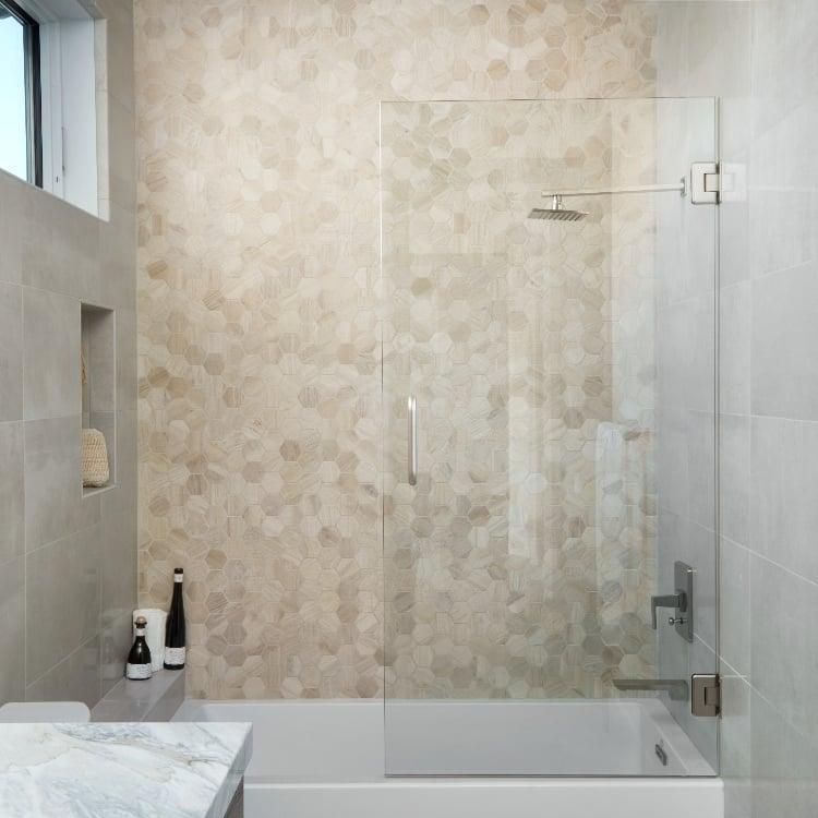 Aequa Nix 2.5 in, Standard, Hexagon, Color-Body-Porcelain, Mosaic