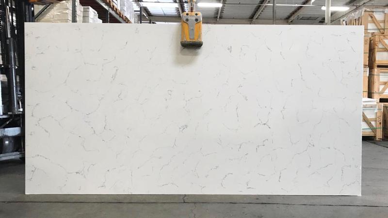 Gaia Arabescato 65x127  Polished Quartz Slab