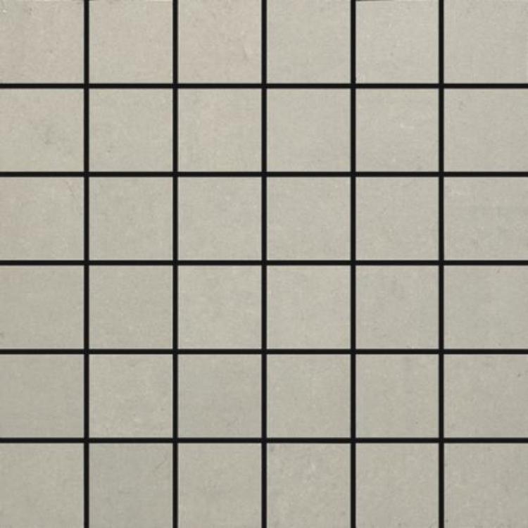 Grey Light Square Matte Porcelain  Mosaic