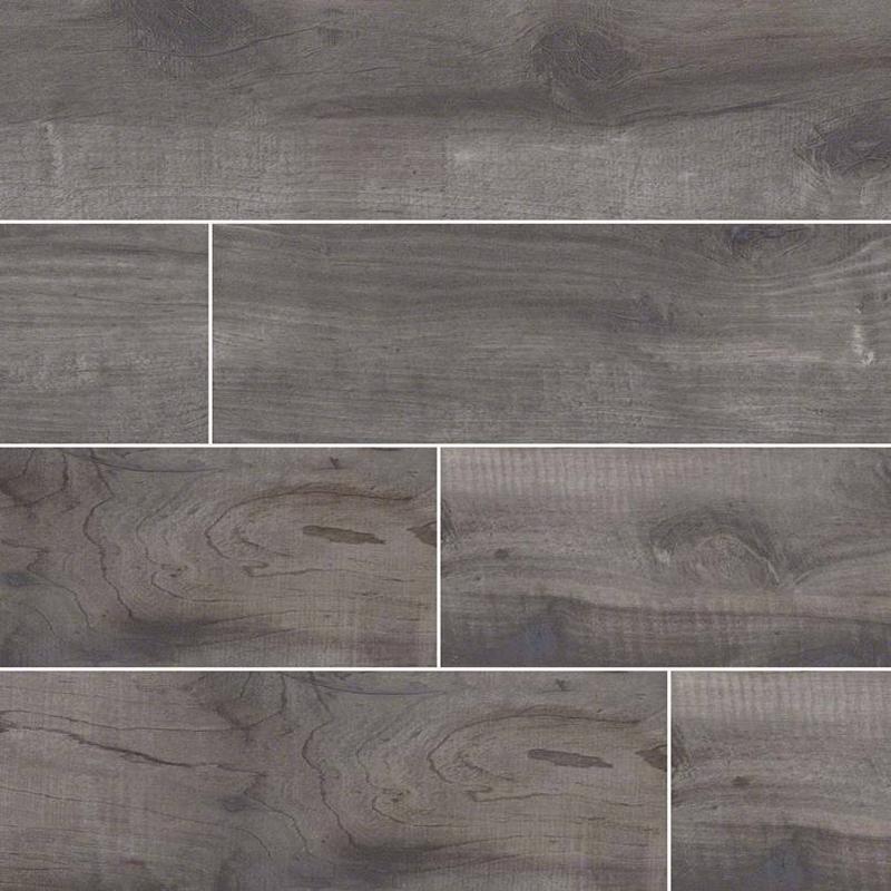 Porcelain Tiles Country River Mist 8x48, Matte, Light Grey, Plank, Tile