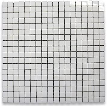 Stone Mosaic Thassos White 5/8x5/8 Square Polished Marble