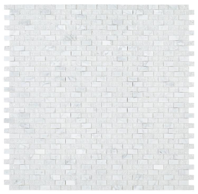 Icy Brick  Glass  Mosaic