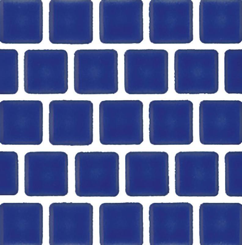 Mini Kyon Cobalt 1x1, Smooth, Square, Porcelain, Mosaic