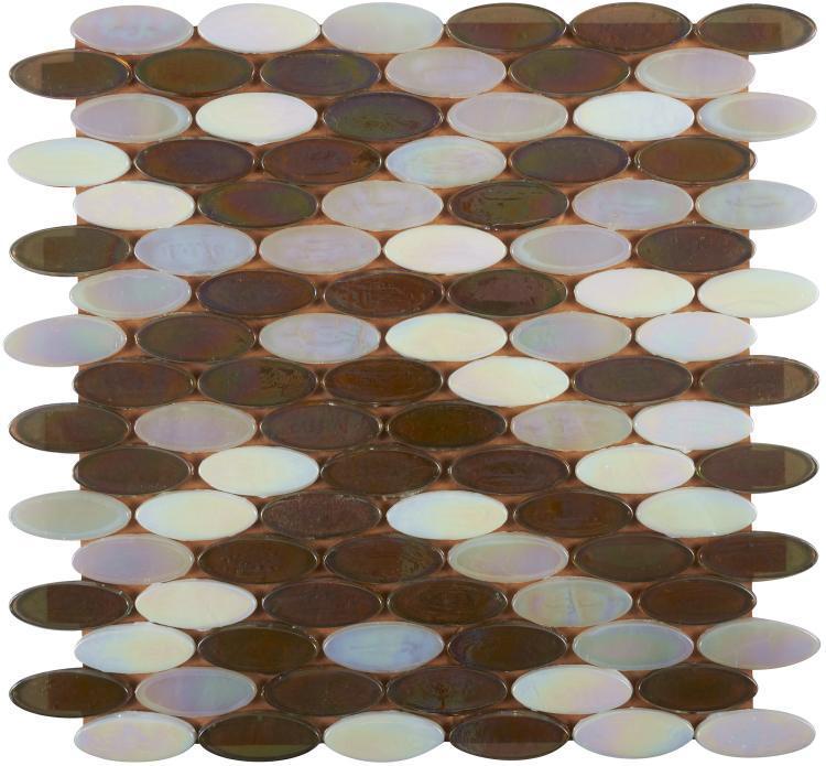 Laguna Silverfish Circular  Glass  Mosaic
