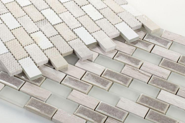 Jewel Bride 1x2 Brick  Glass  Mosaic