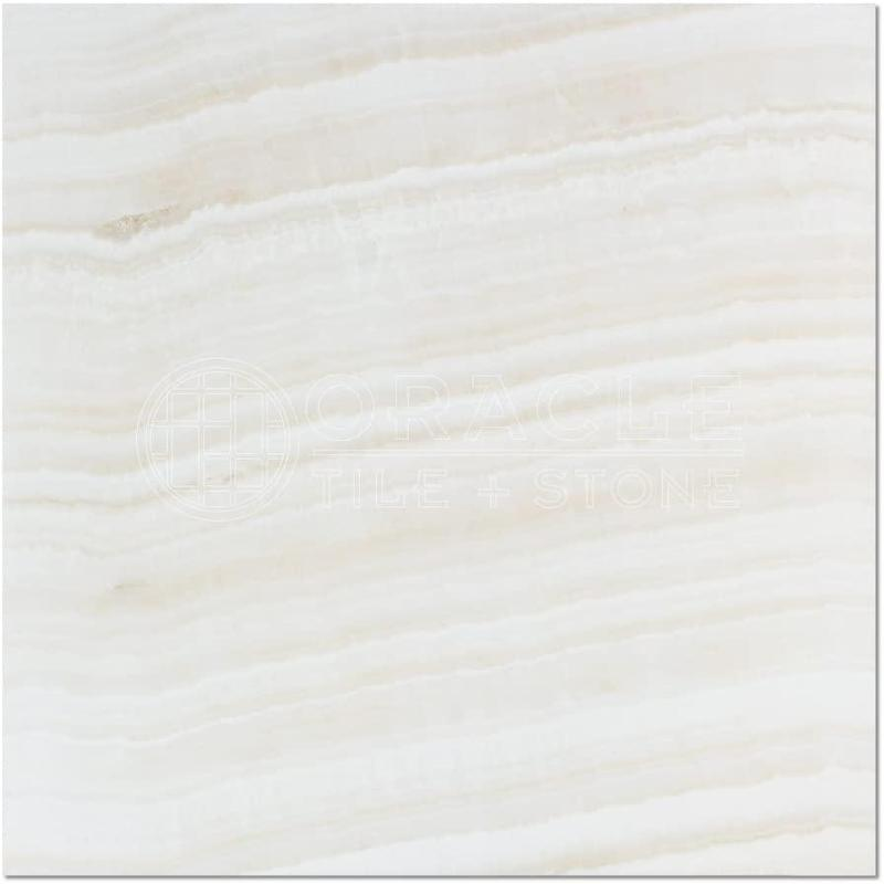 White Onyx Tile 18x18 Polished Straight Cross Cut