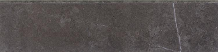 Lava Dark Grey Glazed, Polished 3x12 Porcelain Bullnose