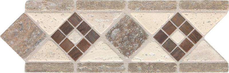 Fashion Accents Burnish Bruni 2x12, Honed, Taupe, Mixed, Tile, (Discontinued)