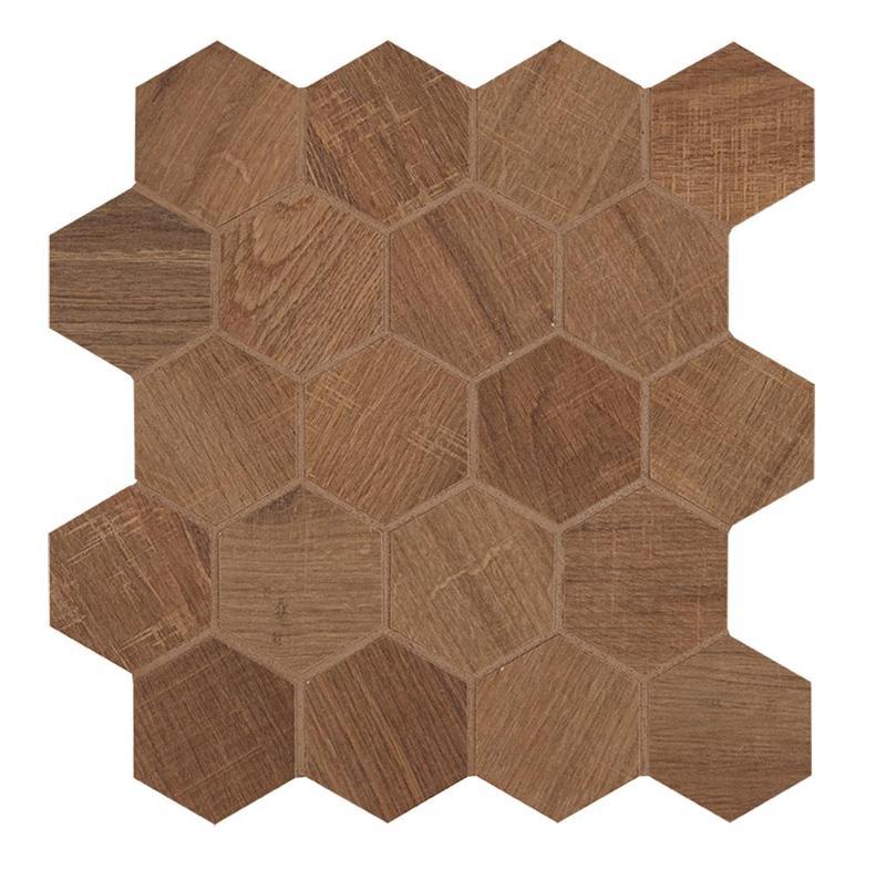 Aequa Castor 2.5 in, Standard, Hexagon, Color-Body-Porcelain, Mosaic