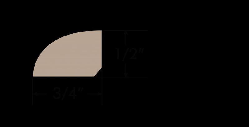 Yosemite 0.75xfree length, Uv-Cured, Maple, Hardwood, Trim