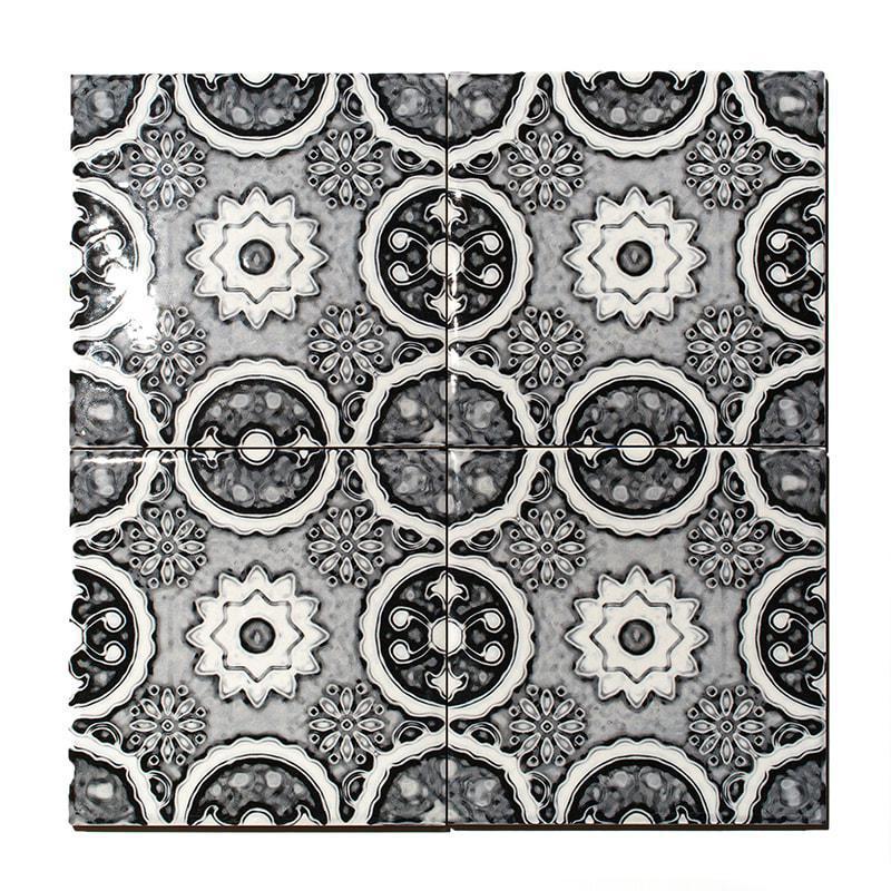Valsecchia Maioliche Deco 15 Glazed 6x6 Porcelain  Tile